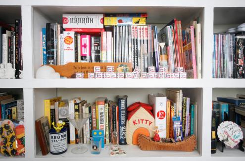 our livingroom bookshelf